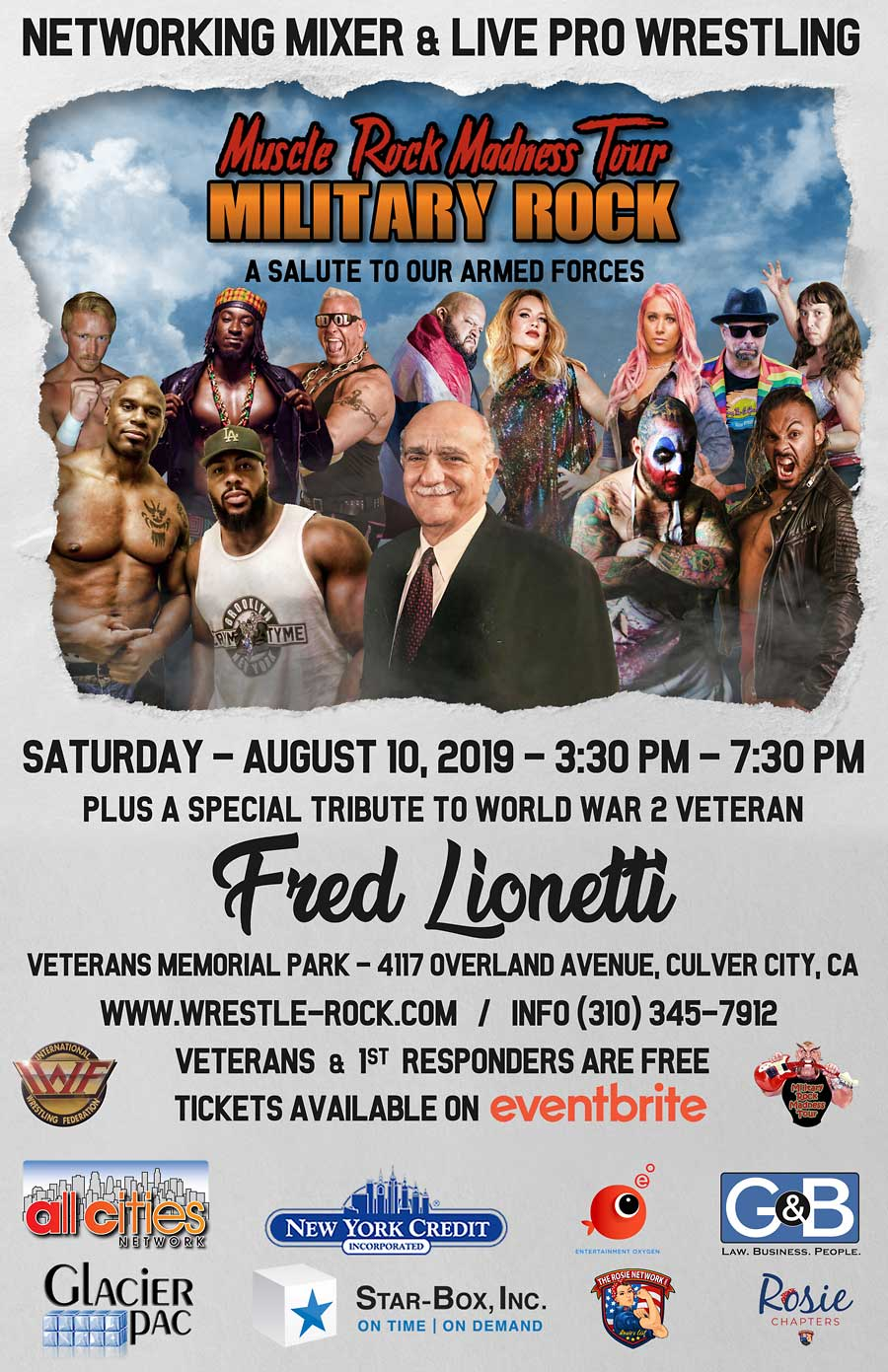 Military Rock Live Pro Wrestling & Concert - August 10th, 2019